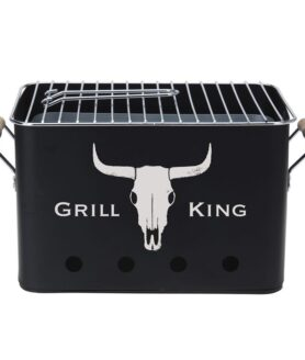 Barbecue Mini Grill - Picknick Grillbox - Holzkohle, 40 x 21 x 21 cm