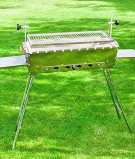 Grosser Multifunktionaler Mangalgrill IDEAL- Schaschlik, Steak grillen, klappbar - gross2