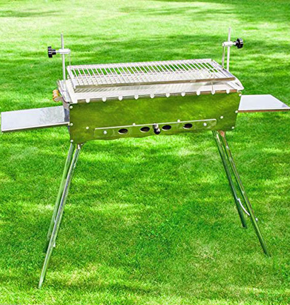 "Grosser Multifunktionaler Mangalgrill ""IDEAL""- Schaschlik & Steak grillen, klappbar"