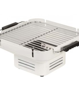 ID 1336 – Tischgrill Holzkohle, Camping Grill, Klappgrill weiss - Grossansicht 2