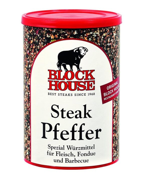 Block House Steak Pfeffer, würzig, 200g Dose