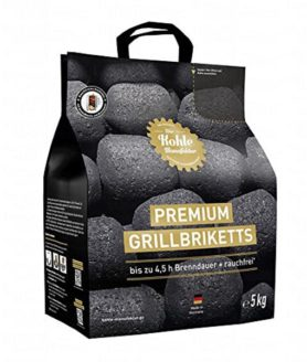 Premium Grillbriketts LONG TASTING - 1 x 5 kg im Shopping Bag - Großansicht 1