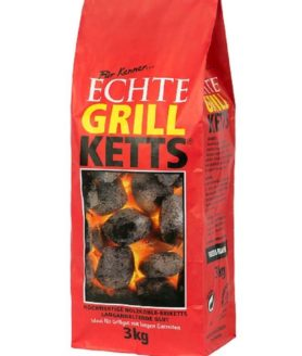 Feuer & Flamme - Grill Ketts, klassische Holzkohle Briketts - 3 kg