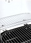 Mini Koffer- Grill Holzkohle - ca 34 x 36 cm Grillflaeche weiss - Warmhalterost