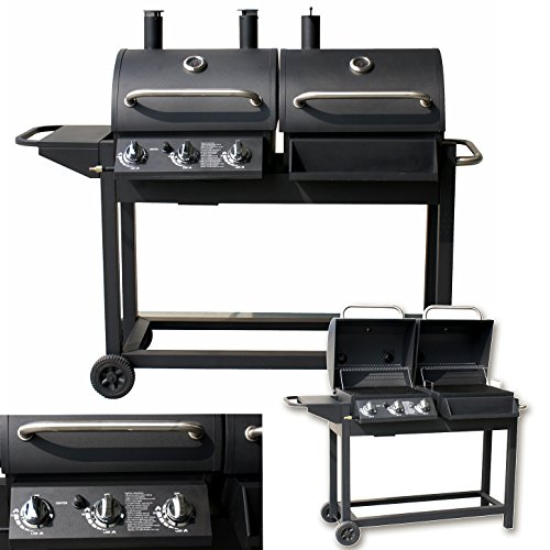 2 in 1 DUO GASGRILL SMOKER - BBQ GAS GRILLWAGEN GRILL BRENNER