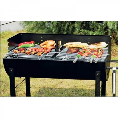 Holzkohlegrill Partygrill fahrbar Holzkohle-Standgrill