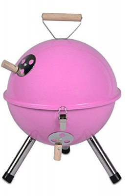 Mini-Grill-Kugelgrill-Holzkohlegrill-fr-Garten-Terrasse-Camping-Festival-Picknick-BBQ-Barbecue--30-cm-pink-0
