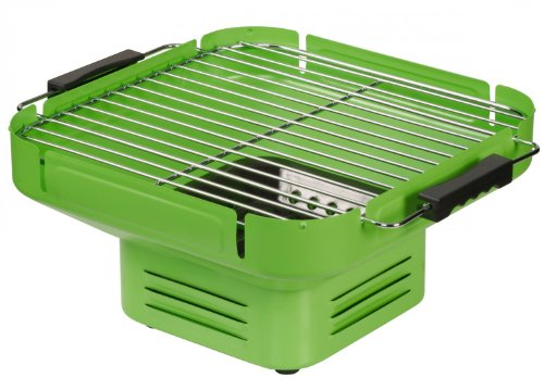 Tischgrill Holzkohle, Camping Grill, Klappgrill grün