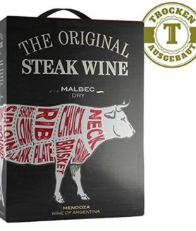 Rotwein 'The Original Steak Wine' - Steak Wein - Argentinen, Box 3,0 L , Malbec 2015